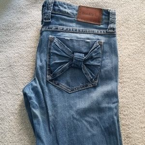 Frankie B jeans skinny distressed denim
